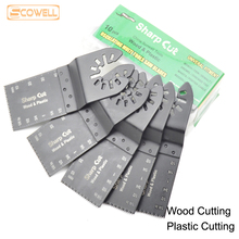 цена на 10pcs 34m (1-1/3) Multimaster power tools oscillating multi tool saw blades for wood,plastic,drywall cutting with Free Adapter