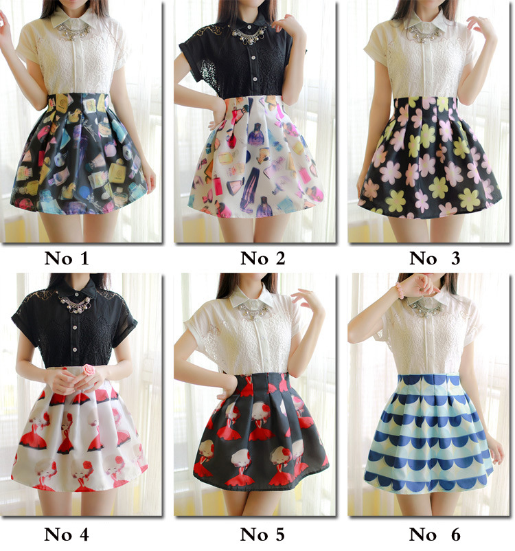 Aliexpress.com : Buy Casual Floral Print Pleated Mini Skirt Women ...