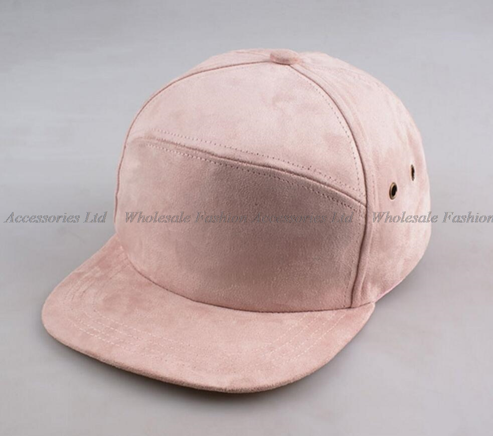 6pcs Lot Brand New Blank 5 Panel Suede Baseball Caps for Men and Women  Strapback Flat Bill Camp Hats for Spring Autumn Wholesale d59ddd4e5be
