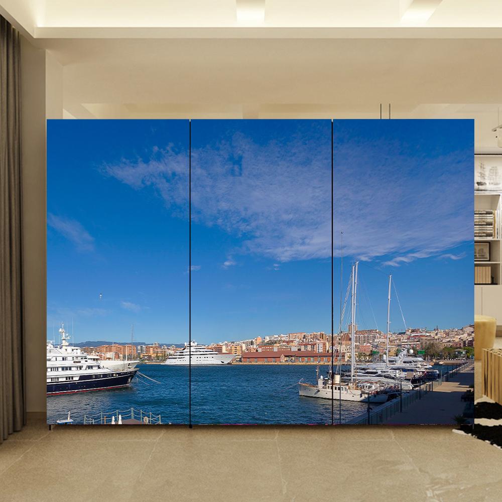 Yazi home decor customized größe pvc tapete wandbild schlafzimmer kleiderschrank schiebetür aufkleber fensterglas film 1 mt