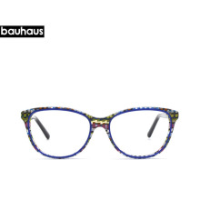 a2b33d5a75 Bauhaus two Colors Ultralight Cat Eyeglasses Small Face Glasses Frame  Acetate For women design Presbyopic Frame