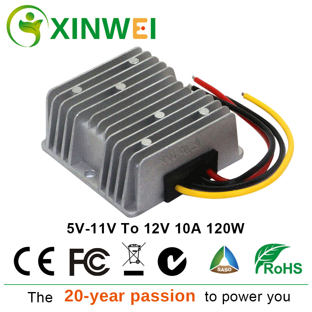 XINWEI DC 5V-11V To DC 12V 10A 120W Step Up Boost Converter Power Non-isolated BUCK Voltage Stabilize Waterproof And Shock-proofXINWEI DC 5V-11V To DC 12V 10A 120W Step Up Boost Converter Power Non-isolated BUCK Voltage Stabilize Waterproof And Shock-proof
