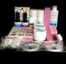 EM-76Professional Full Set 12 color UV Gel Kit Brush Nail Art Set + 36W Curing UV Lamp kit Dryer Curining Tools