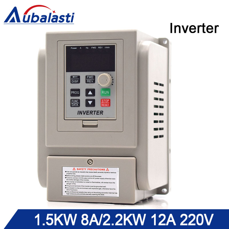 Aubalasti инвертор 1.5KW 2.2KW 220 V преобразователь частоты 1.5KW 8A 2.2KW 12A 3HP 220 V AT1 3 P 220 V Выход 400 Гц для ЧПУ
