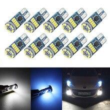 10 قطع W5W SMD سيارة T10 LED 194 168 إسفين صك مصباح لوحة الأبيض الكريستال الأزرق القراءة مصباح سيارة جانبي مصابيح سيارات أضواء