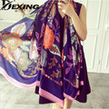 [Dexing]2016 new scarf spring summer women's Design Print scarf long shawl printed cape Polyester chiffon tippet muffler Scarves