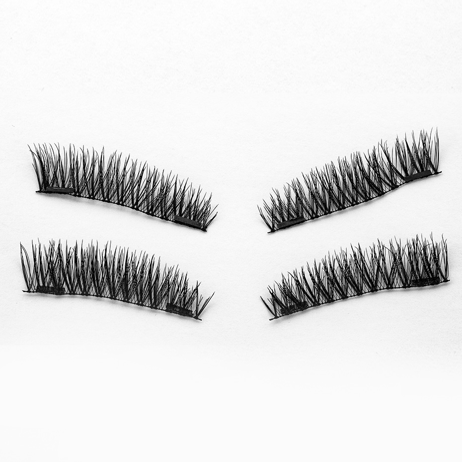 HaHaLash Magnetic Eyelashes 6D eype with two tiny magnets Natural curl Hand Made Factory Sell Eyelashes extention-HH-KS01-2