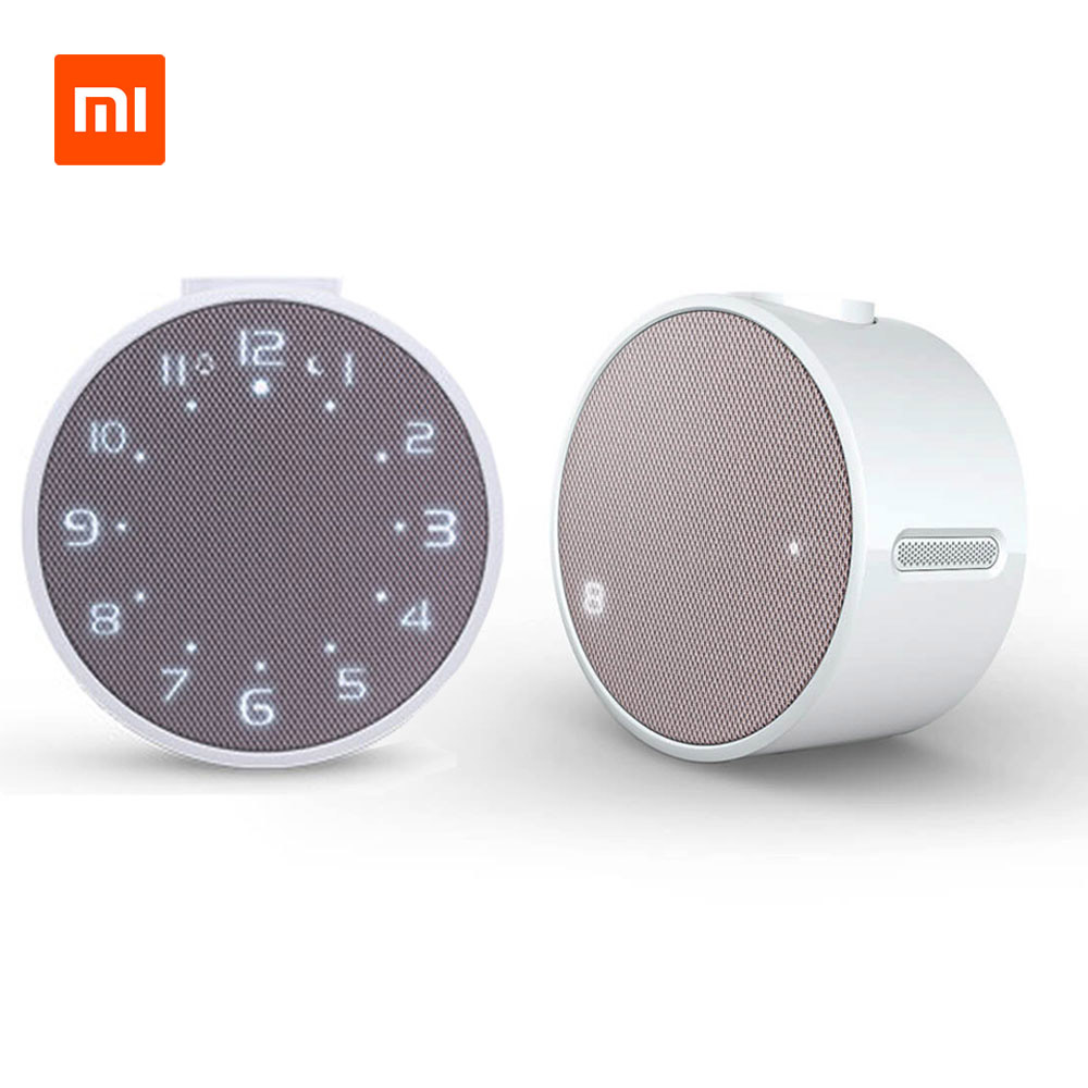 Original Xiaomi music Alarm clock Wireless Bluetooth Portable Speaker LED Digital Clock Wake -Android Control novelty run around wake up n catch me digital alarm clock on wheels white 4 aaa
