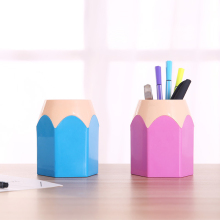 Creative pencil pen holder Makeup brush holder stationery pencil holder desk neat container office supplies storage pen case 1 pc pencil shaped pen stand holders for students plastic dest stationery holder cartoon creative pen holder