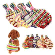 Новые физиологические штаны для домашних животных, подгузники, гигиенические моющиеся женские шорты для собак, трусики для менструации, нижнее белье, трусы для собак чихуахуа