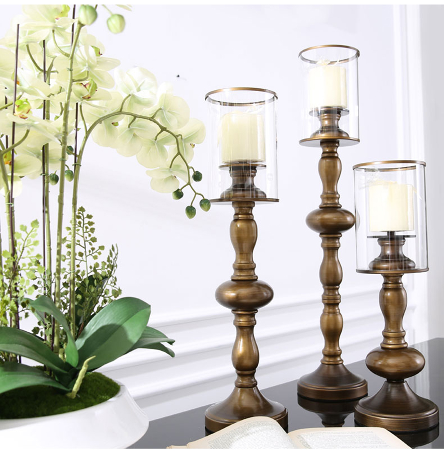 Crystal Candleholder Centerpieces For Wedding Candlestick Candle Holder Oil Lamps Moroccan Lantern Chandelier Candlestick QQX20