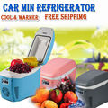 7.5L Portable Mini Car Fridge Vehicle Electric ABS Multi-Function Home Cooler Freezer Warmer Refrigerator Fridge Auto Supply