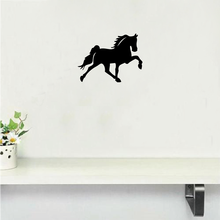 MA-27 Galloping Horse Wall Sticker Creative Cartoon Animal Silhouette Vinyl Wall Decal Home Wallpaper(China)