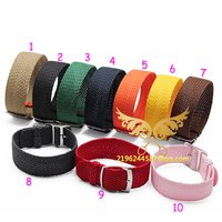 Watch Accessories 1PCS Nylon Nato Watch Strap 20mm Watch Band Waterproof Watch Strap 10 Multicolor Colors