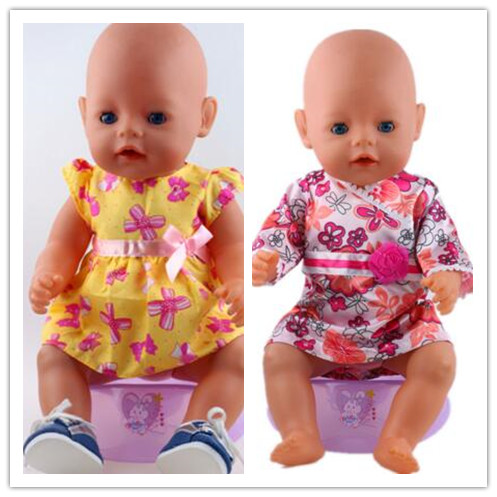 short set dress 2style choose high quality dress Wear fit 43cm Baby Born zapf,  Children best  Birthday Gift(only sell clothes) 2color choose leisure dress doll clothes wear fit 43cm baby born zapf children best birthday gift only sell clothes