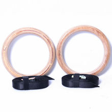 wooden gymnastic fitness rings contain expansion bolt for shoulder strength physical muscle training gym crossfit for wholesale