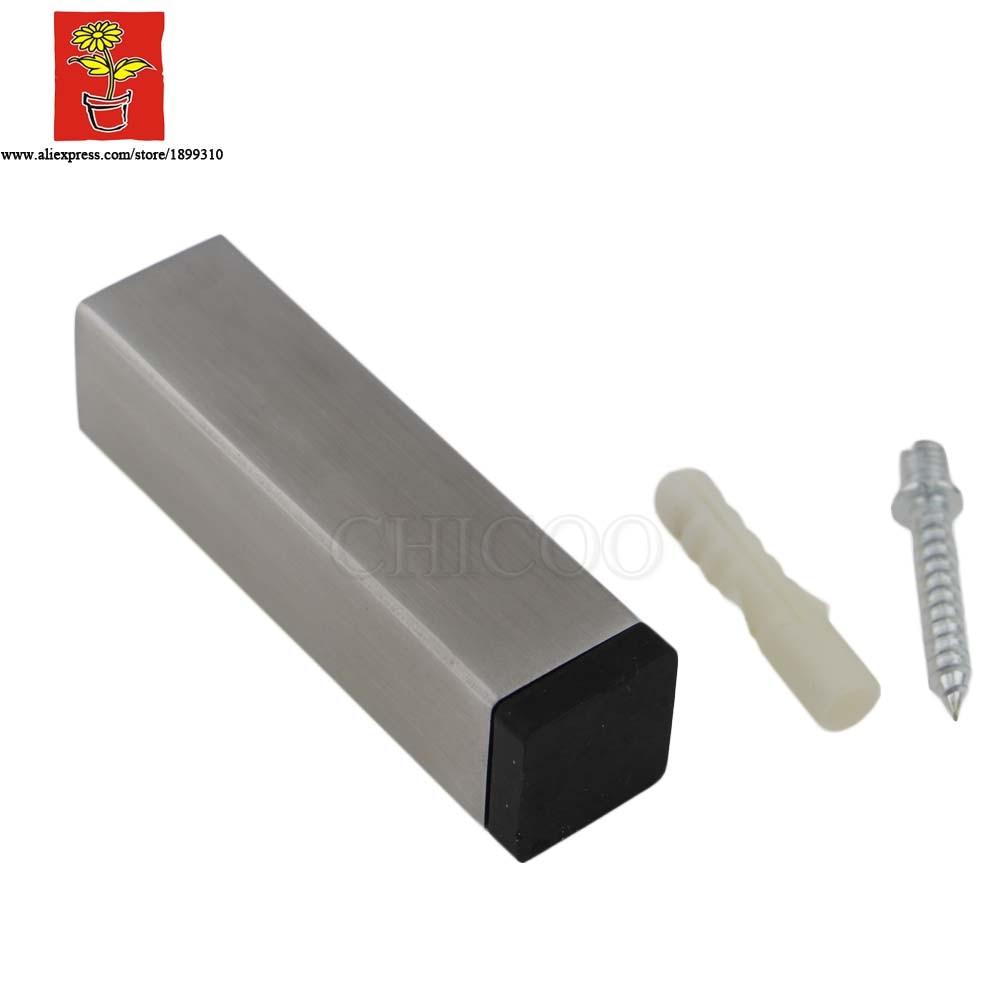Top quality suqare Stainless steel door stopper rubber metal doorstops decorative door stop