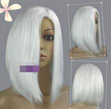 WIG hot~White Heat Styleable No Bang Short Cosplay Wigs Free Shipping(China)