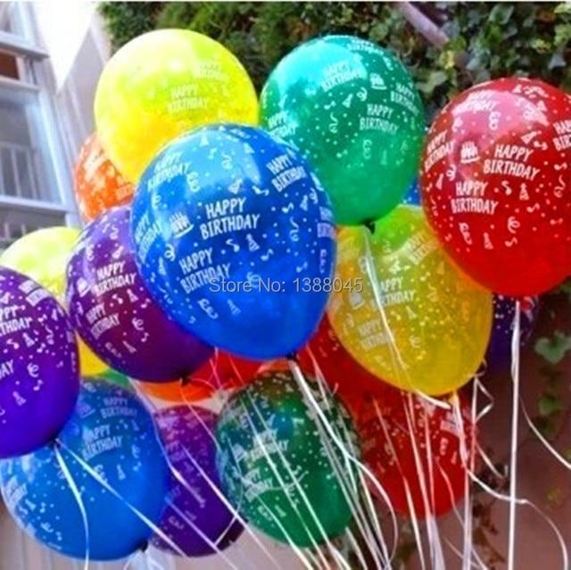 unidslote pulgadas colorido feliz cumpleaos globos de ltex de cumpleaos decoracin del