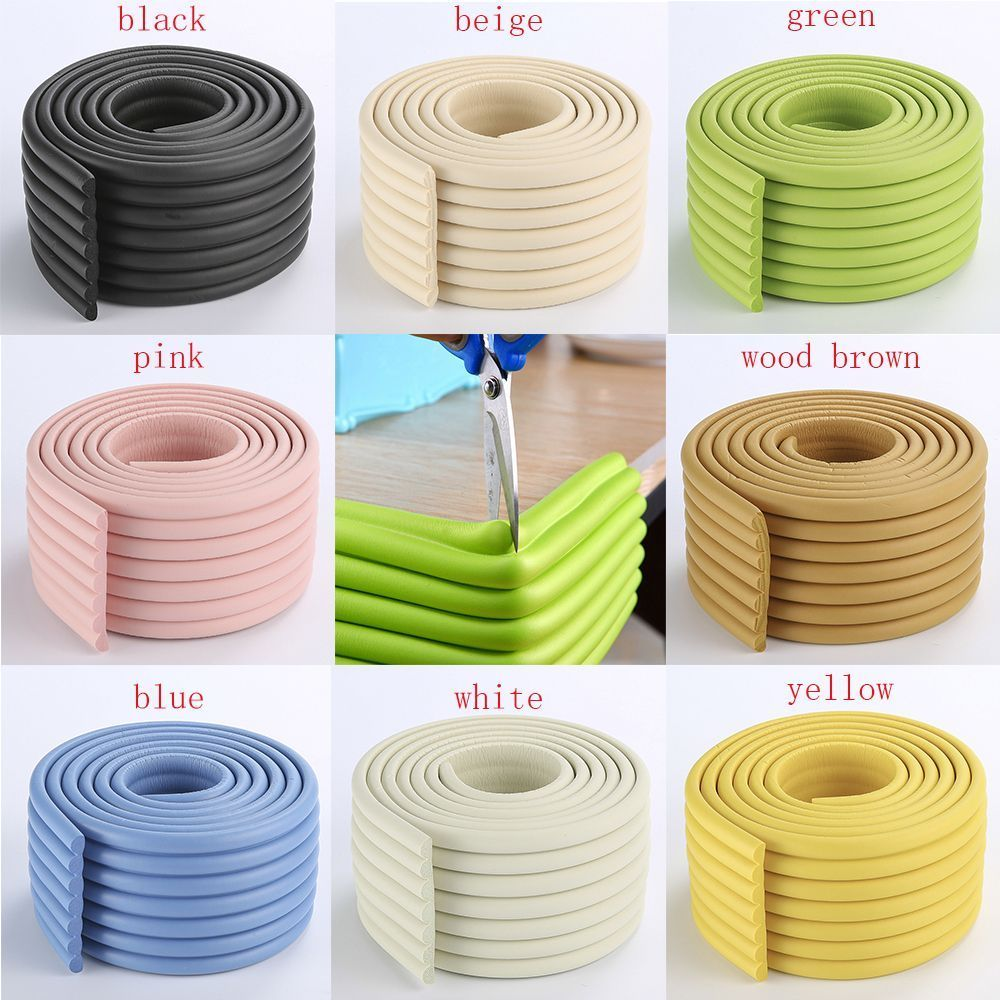 2M Baby Safety Table Desk Edge Guard Home Cushion Protector Safe Protection Children Bar Thicken Bumper Strip No Sticky Tape