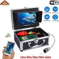 Stardot Wifi Fish Finder Máy Ảnh 7 Inch Màn Hình Màu 1000tvl Underwater Fishing Video Camera Kit HD Không Dây Cho IOS Android APP