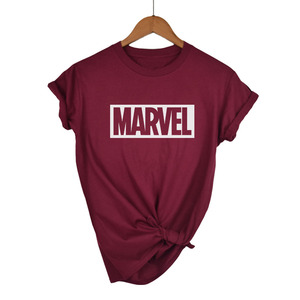 2018 Fashion Harajuku Casual Women's T-Shirts Punk Rock MARVEL ts Cotton tumblr tshirt Casual Hipster For Famale Top(China)