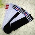 2016 nuevos calcetines de los niños de ocio salvaje marea modelos negro/blanco de gasa Sin Espalda de algodón de costura de los niños en calcetines