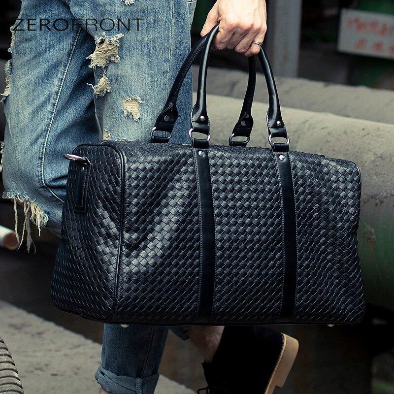 ZEROFRONT Ny Populär Design PU Läder Weekend Duffel Väskor - Väskor för bagage och resor - Foto 2
