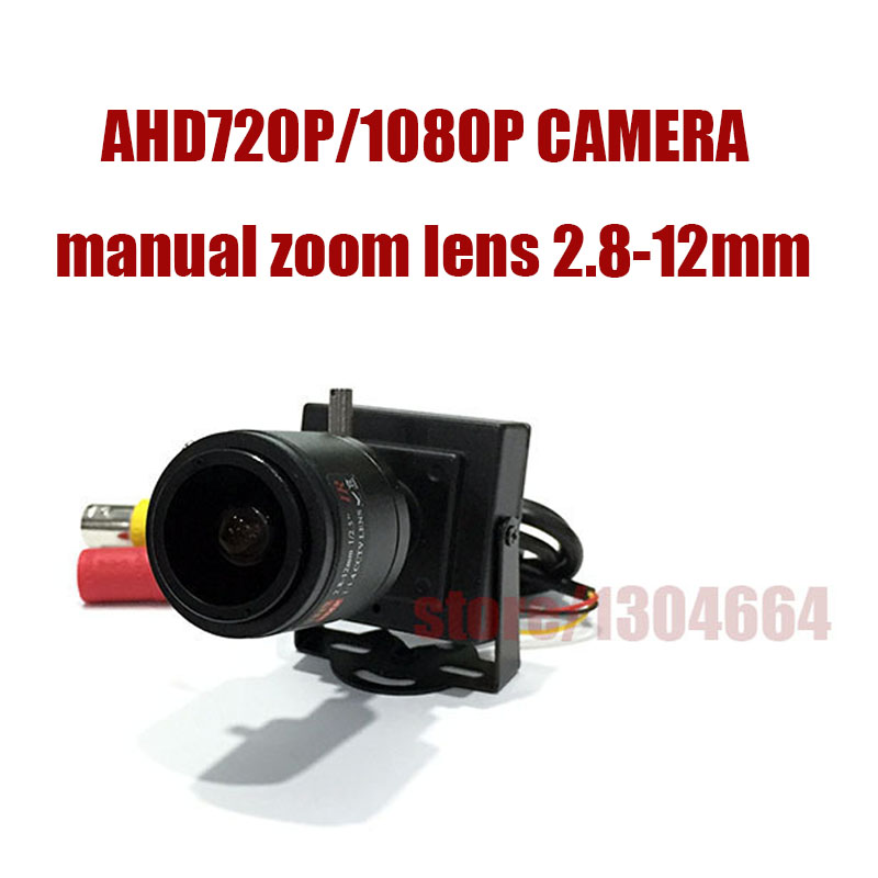 HD Mini Type AHD 720P/1080P/2MP manual zoom lens 2.8-12mm Home Security Indoor metal cover cctv camera free shipping gonlei anime one piece boa hancock ver 3d2y limited edition sexy girl pvc action figure resin model doll toy gifts doll