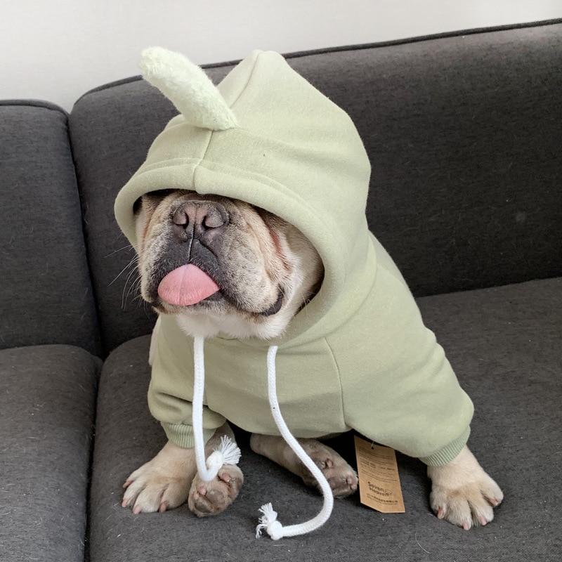 Teletubbies Vestiti Del Cane per Cani di Piccola Taglia In Pile Con Cappuccio del Cappotto Vestiti Dell'animale Domestico Chihuahua Costume Felpe per il Francese Bulldog Giacca XQ136