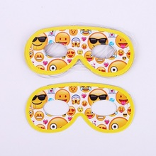 6pcs Emoji Disposable Tableware Eye mask Happy Birthday Party Decorations Supplies Easter Baby shower wedding Activity goods 1set emoji disposable tableware banner sign flags happy birthday party decorations supplies easter baby shower activity goods