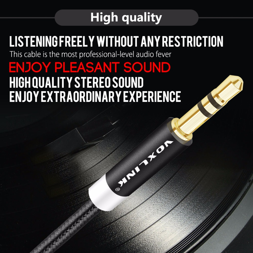 Image 2 - VOXLINK 3ft/1m 3.5 mm Jack Audio Cable for iPhone 6 6s 3.5mm AUX Auxiliary Cord Male to Male Audio Cable For CAR MP3/MP4 jack