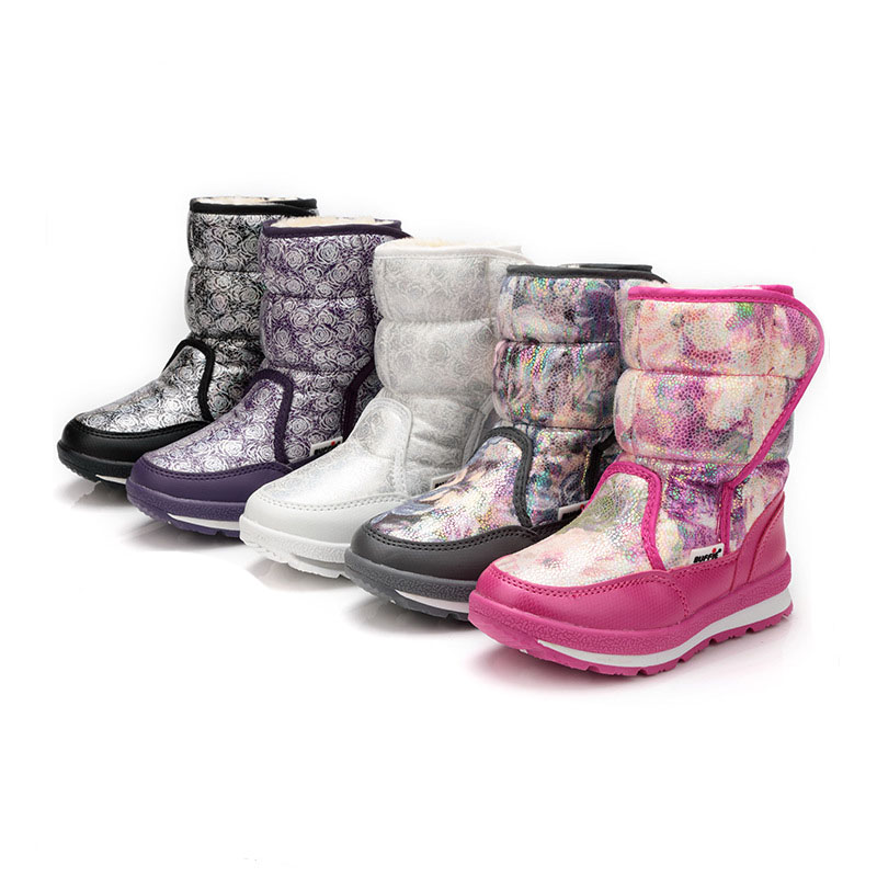 Kalupao Kids Girls Shoes Rubber Boots For Girls Winter Boots High Quality Snow Boots уличный настенный светильник eglo ciity 88142