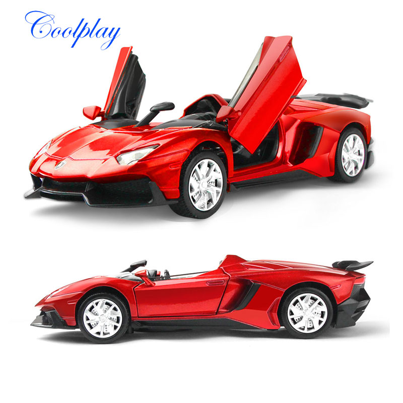 1:32 Scale Diecast Car Model For Lamborghin Aventador Alloy Toy Vehicles Flashing & Musical Model Car Toys For Kids
