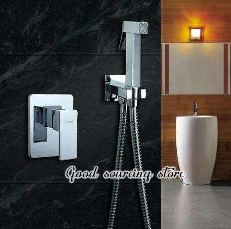 built-in type hot and cold water bidet faucet, bidet shower