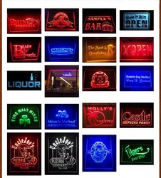 8 Colors 4 Different Sizes Remote Control Color Design Your Own LED Neon Sign Custom Neon Sign LED Signs Edge Bar Dropshipping