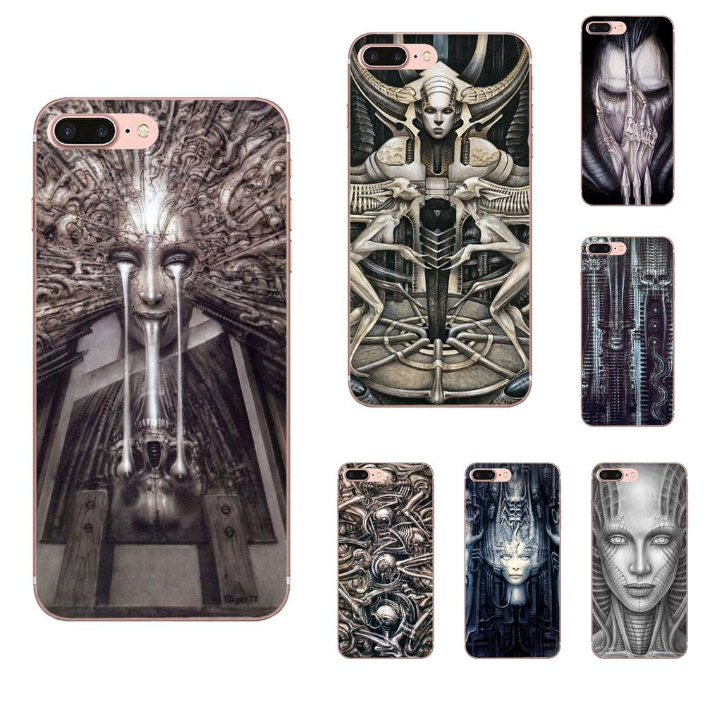 Hr Giger For Huawei Mate 7 8 9 10 20 P8 P9 P10 P20 P30 Lite Plus Pro 2017 Soft Silicone TPU Transparent Cell Phone