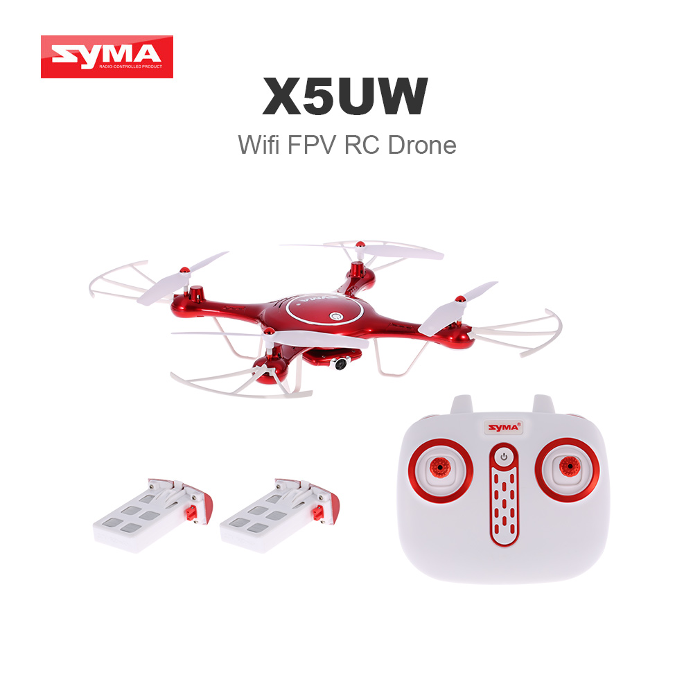 Newest Syma X5UW Wifi FPV Quadcopter RC Drone with 720P HD Camera Barometer Set Height Function and One Extra Battery RTF original syma x8sw wifi fpv hd camera drone 2 4g 4ch 6 axis rc quadcopter with barometer set height mode rtf toys