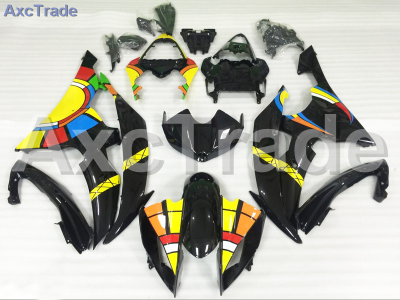Motorcycle Fairings Kits For Yamaha YZF600 YZF 600  R6 YZF-R6 2008-2014 08 - 14 ABS Injection Fairing Bodywork Kit Yellow Black new original drive mr j3 20a 1 3ph ac220v 200w ac servo drive