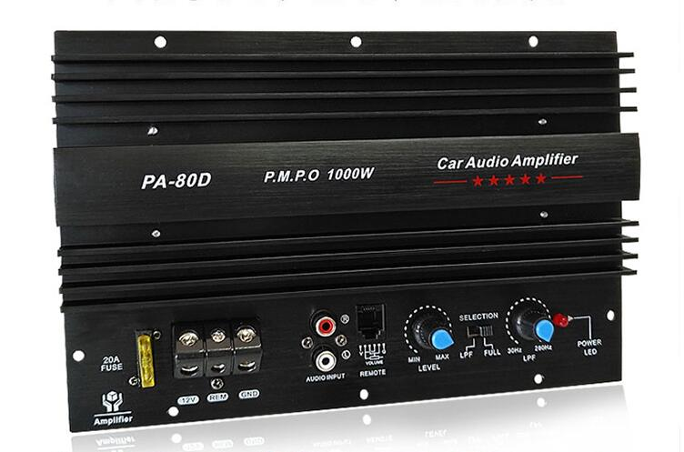 Power Subwoofer Car Amplifiers Audio Board 1000W Sound Amplificador DIY For Bass Speakers Car Audio System