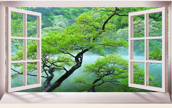 customize wallpaper papel de parede three dimensional space expansion indoor natural scenery 3d