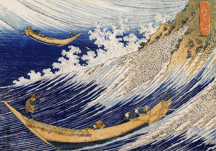 Japan Katsushika Hokusai Sea Wave Scenery For Embroidery Needlework 14CT Unprinted DMC DIY Cross Stitch Kits Handmade Arts Decor