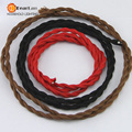 (2 m/lote) o Preço Por Atacado, 20 Cores, Tecido de Fio Condutor de Cobre Elétrica Do Vintage (2*0.75mm), Terno Para Lâmpadas (PK-09)