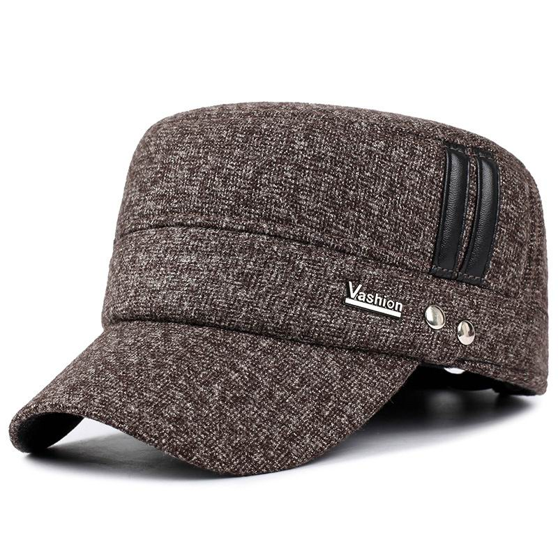 Ear Protection Winer Hat Man Outdoor Keep Warm Winter Sport Cap Thick Cotton Warmth Windproof Bone Visor Wool