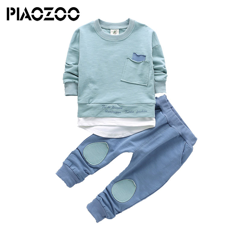Boys Clothes Set Long Sleeve Shirts Pants 2pcs Kids Suits for Boys 2018 New Spring Toddler Children Clothing Set 1-4T spring autumn children s clothing suits kids sweatshirts pants children sports suit boys clothes set retail toddler leisure