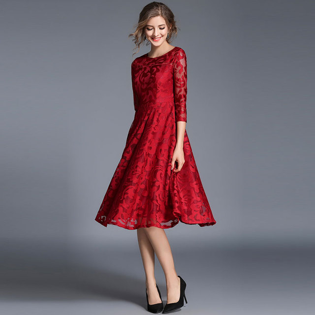 #Spring #Fashion Slim #Ladies Party #Dress #Women Casual Lace Dresses #boygrl 2