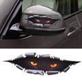 Car Styling Funny 3D Simulation Monster Leopard Eye Peeking Sticker Decal Auto Car Window For VW Audi Toyota BMW