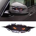 De coches de estilo divertido 3d leopard simulación monstruo de ojos asomando ventana etiqueta engomada auto del coche para vw audi toyota bmw