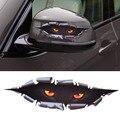 Estilo do carro engraçado espreitar monstro leopard olho de simulação 3d sticker decal janela do carro auto para audi vw toyota bmw
