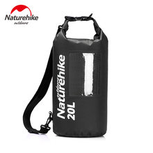 Naturehike 20L Ultralight View Dry Bag With Window TPU Pack Waterproof Bag Sack Single Shoulder For Kayaking Rafting Camping(China)